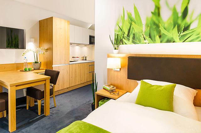 INhouse - Boardinghouse Ingolstadt - Apartments - Business - Sleeping area