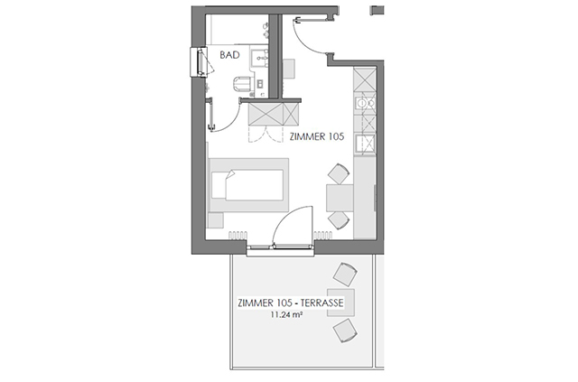 Boardinghouse - Ingolstadt Apartments - Business Plus Grundriss