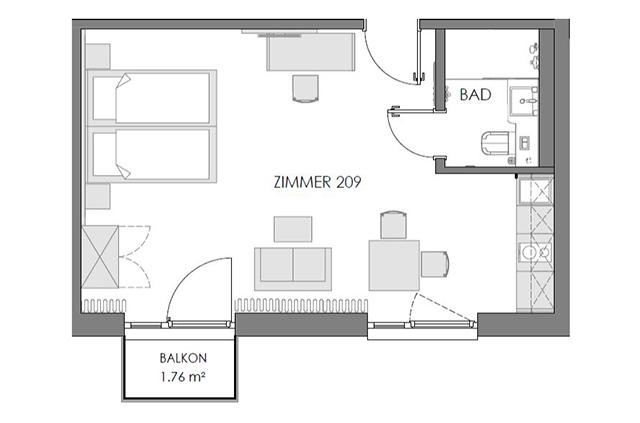 Boardinghouse - Ingolstadt Apartments - Grundriss Superior
